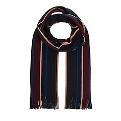 Hammond & Co. by Patrick Grant - Navy striped merino wool scarf