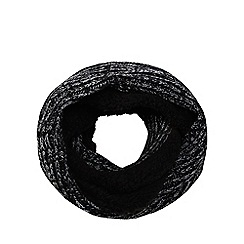 Maine New England - Black thermal twist knit snood