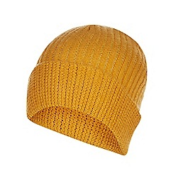 Red Herring - Mustard knitted beanie hat