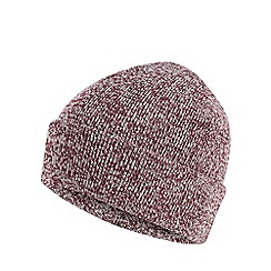 Red Herring - Wine red twist knit beanie hat