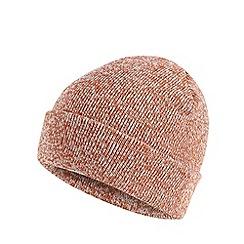 Red Herring - Orange twist knit beanie hat