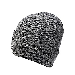 Red Herring - Grey twist knit beanie hat