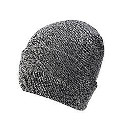 Red Herring - Grey twist knit beanie hat