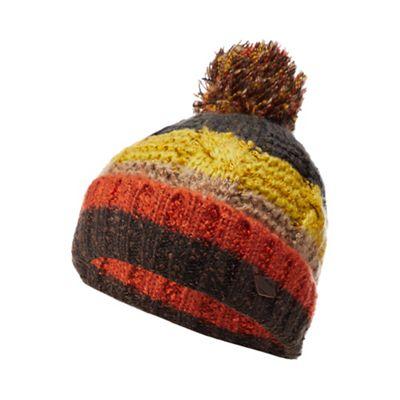 72bd6ca99ab Mantaray Yellow striped knit bobble hat