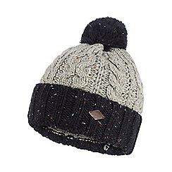 Mantaray - Grey cable knit bobble hat