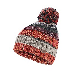 Mantaray - Multicoloured striped knit bobble hat