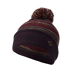 Mantaray - Navy striped knit bobble hat