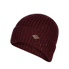 Mantaray - Wine red knitted beanie hat