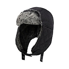 J by Jasper Conran - Grey quilted 'Melton' trapper hat