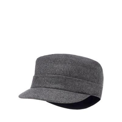 54993d578bb J by Jasper Conran Grey train driver hat with wool