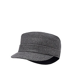 J by Jasper Conran - Grey train driver hat with wool