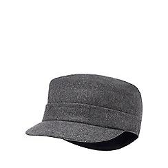J by Jasper Conran - Grey train driver hat with wool