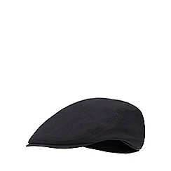J by Jasper Conran - Black waterproof flat cap