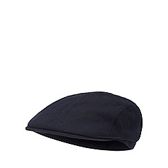 J by Jasper Conran - Navy wool blend flat cap