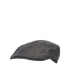 J by Jasper Conran - Grey textured flat cap with wool