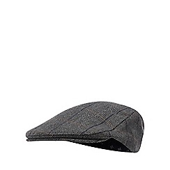 Hammond & Co. by Patrick Grant - Grey windowpane check flat cap