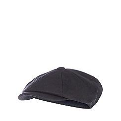 Hammond & Co. by Patrick Grant - Black wool blend baker boy hat