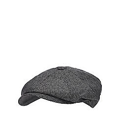 030100f31ca Hammond   Co. by Patrick Grant - Grey puppytooth baker boy hat