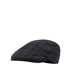 ebe9c9603e7 Hammond   Co. by Patrick Grant - Navy windowpane check flat cap