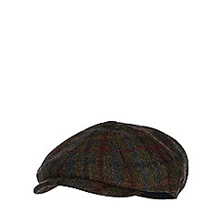 Hammond & Co. by Patrick Grant - Green window pane check wool baker boy hat