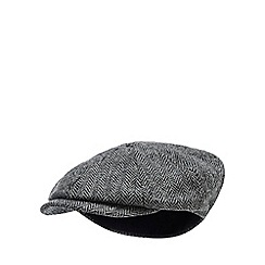 Hammond & Co. by Patrick Grant - Grey herringbone wool baker boy hat