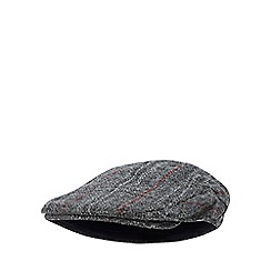 ca679e498f5 Hammond   Co. by Patrick Grant - Grey checked wool flat cap
