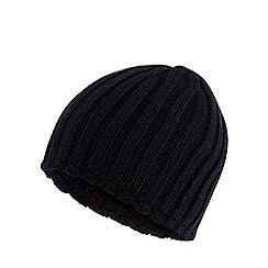 Maine New England - Black thermal knit beanie
