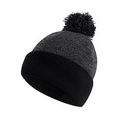 Maine New England - Grey thermal knit bobble hat