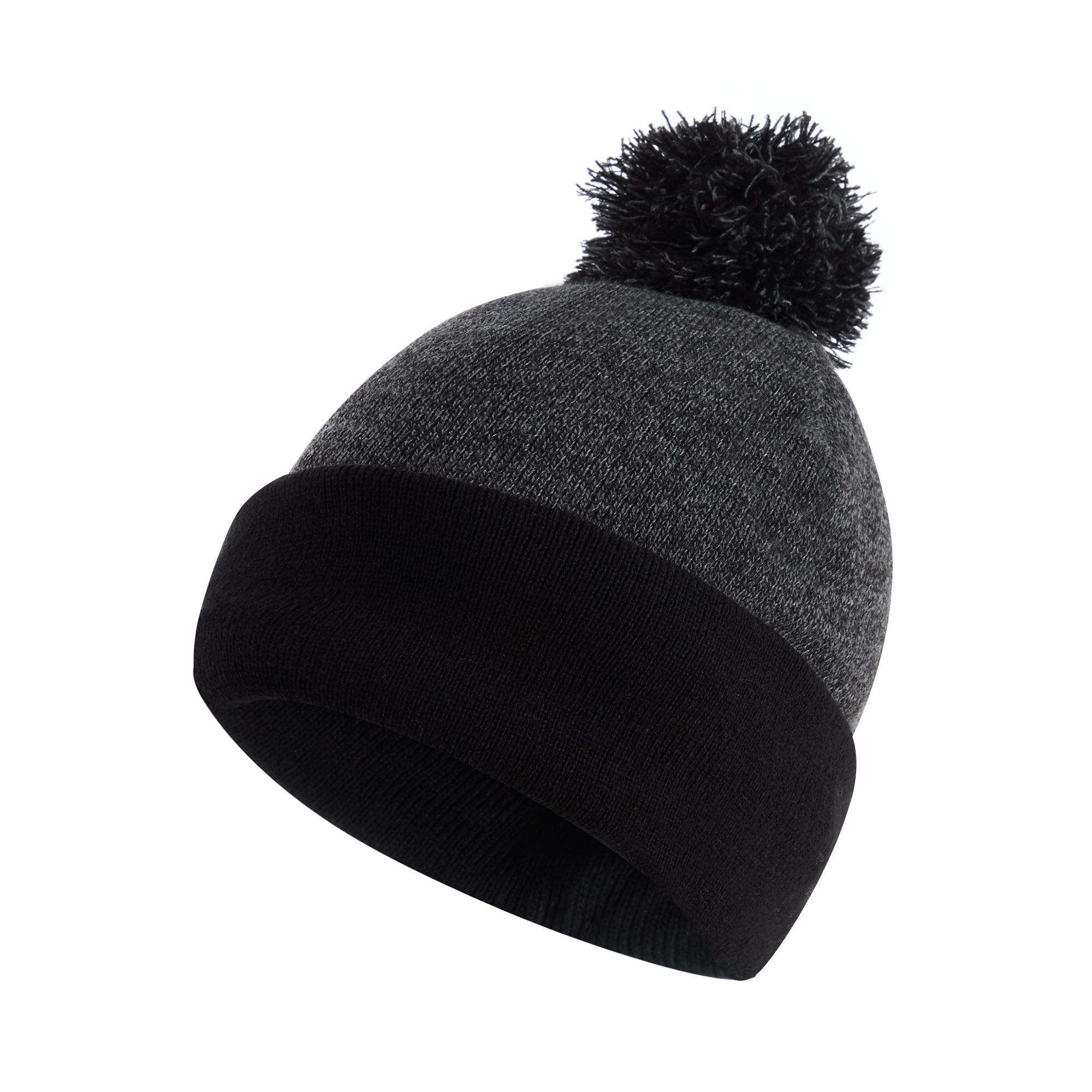 c05fe1836304e Details about Maine New England Men Grey Thermal Knit Bobble Hat One Size