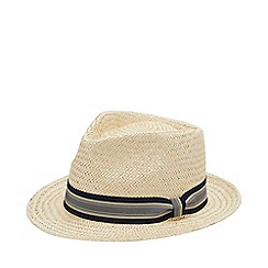 Hammond & Co. by Patrick Grant - Natural Striped Band Straw Hat
