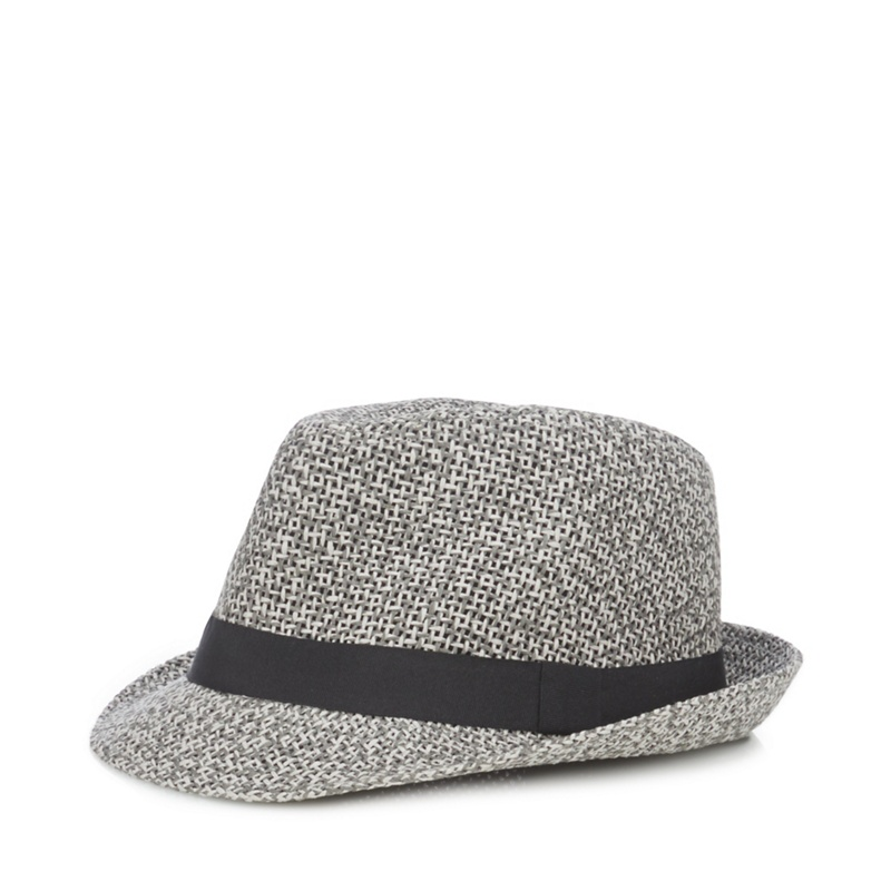 4e572111f1800 Red Herring - Grey Two Tone Straw Trilby Hat