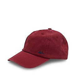 Mantaray - Red Washed Cotton Baseball Cap