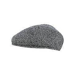 d246852e9db John Rocha - Grey herringbone Harris Tweed wool flat cap