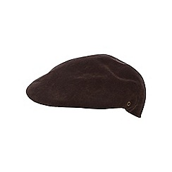 The Collection - Brown moulded flat cap