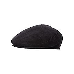 The Collection - Black corduroy flat cap