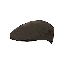 RJR.John Rocha - Dark green waxed cotton flat cap
