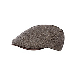 RJR.John Rocha - Brown mini herringbone flat cap