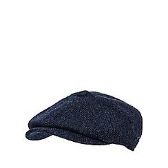 RJR.John Rocha - Navy wool herringbone baker boy hat
