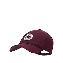 Converse - Wine Red Logo Patch Cotton Baseball Cap