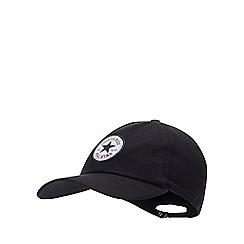 Converse - Black Logo Patch Cotton Baseball Cap