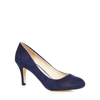 The Collection - Navy high stiletto heel court shoes