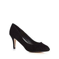 The Collection - Black high stiletto heel court shoes