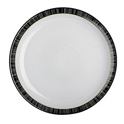Denby - Glazed striped 'Jet' tea plate