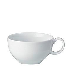 Denby - Glazed 'White' tea saucer