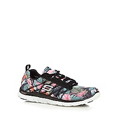 Skechers - Black 'Floral Bloom' trainers