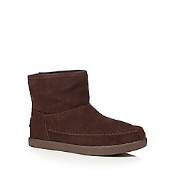 Skechers - Dark brown leather 'Earthwise Posey' ankle boots