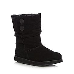 Skechers - Black leather 'Keepsakes-Freezing' ankle boots