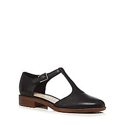 Clarks - Black leather 'Taylor Palm' T-bar shoes