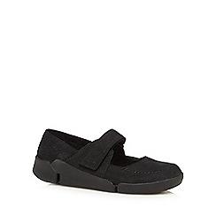 Clarks - Black leather 'Tri Amanda'slip-on shoes