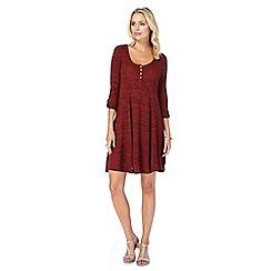 Mantaray - Red textured stripe swing dress